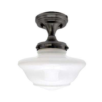 Schoolhouse Oil Rubbed Bronze Ceiling Mount Light