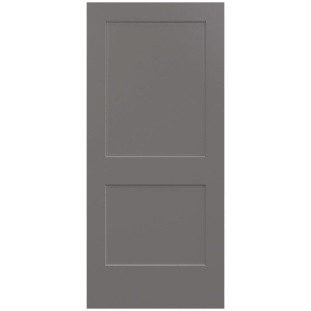 Monroe Weathered Stone Painted Smooth Solid  sc 1 st  The Home Depot & JELD-WEN 36 in. x 80 in. Monroe Weathered Stone Painted Smooth Solid ...