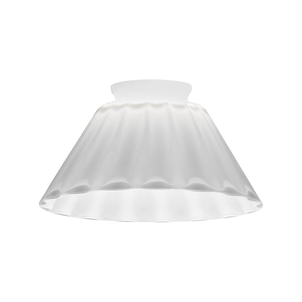 White Melon Cone Glass Shade for LED Mini Pendant