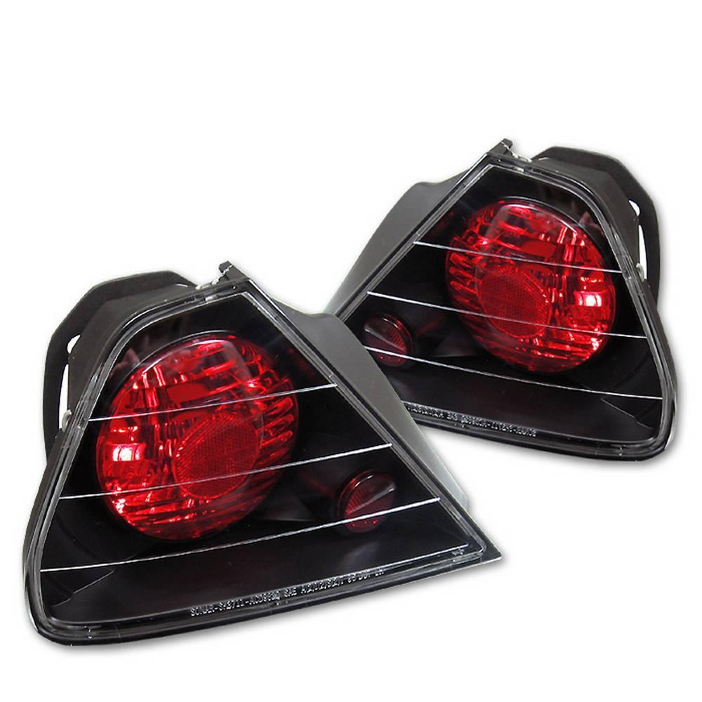 Honda Accord 98 00 2dr Euro Style Tail Lights Black