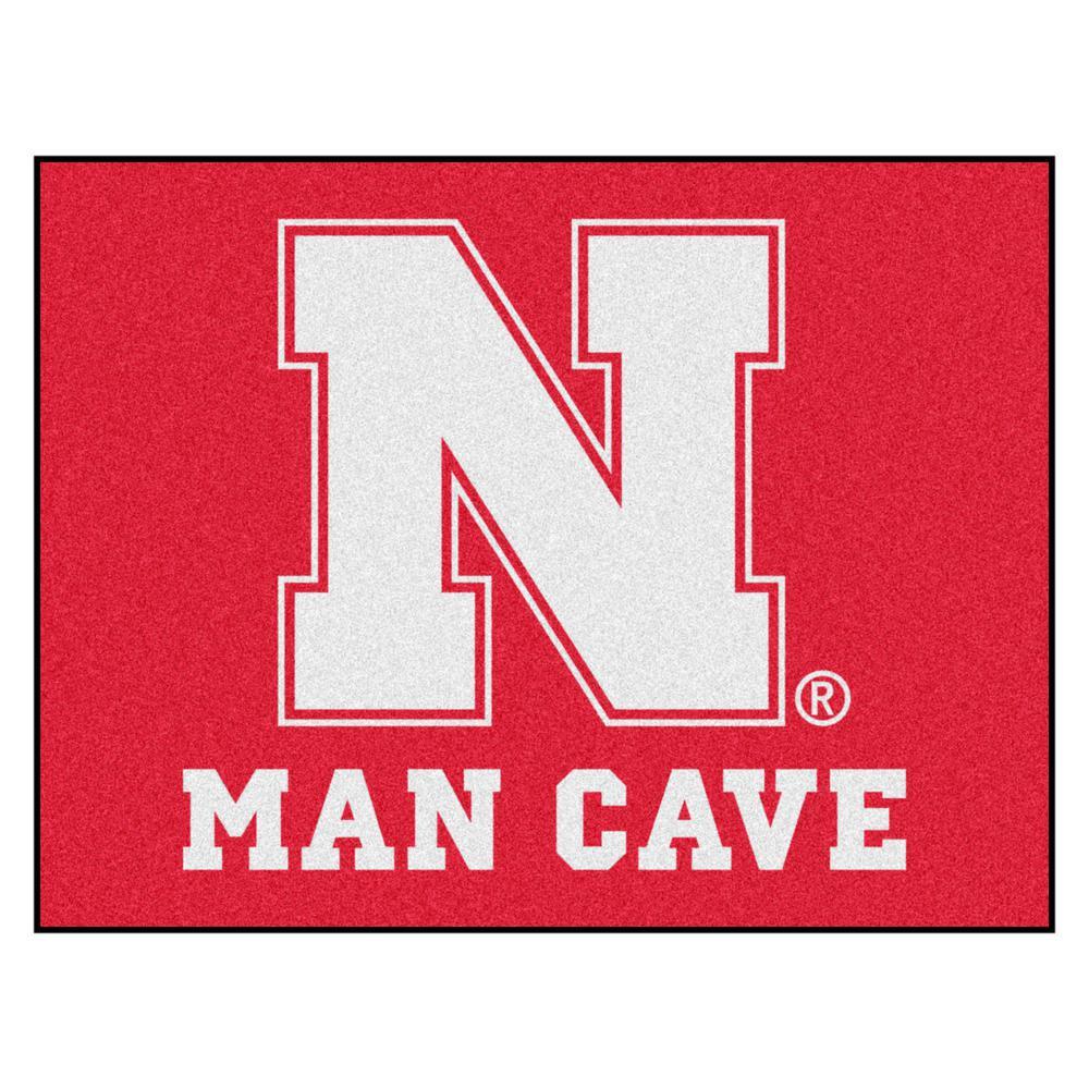 University of Nebraska Red Man Cave 1 ft. 7 in. x 2 ft. 6 in. Accent Rug