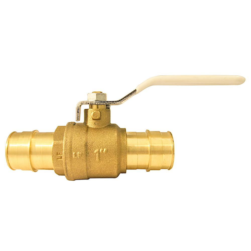 1 in. Brass PEX-A Expansion Barb Ball Valve