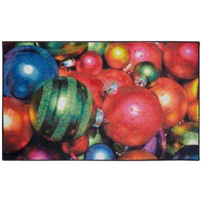 Christmas Ornaments Multi 2 ft. 6 in. x 4 ft. 2 in. Area Rug