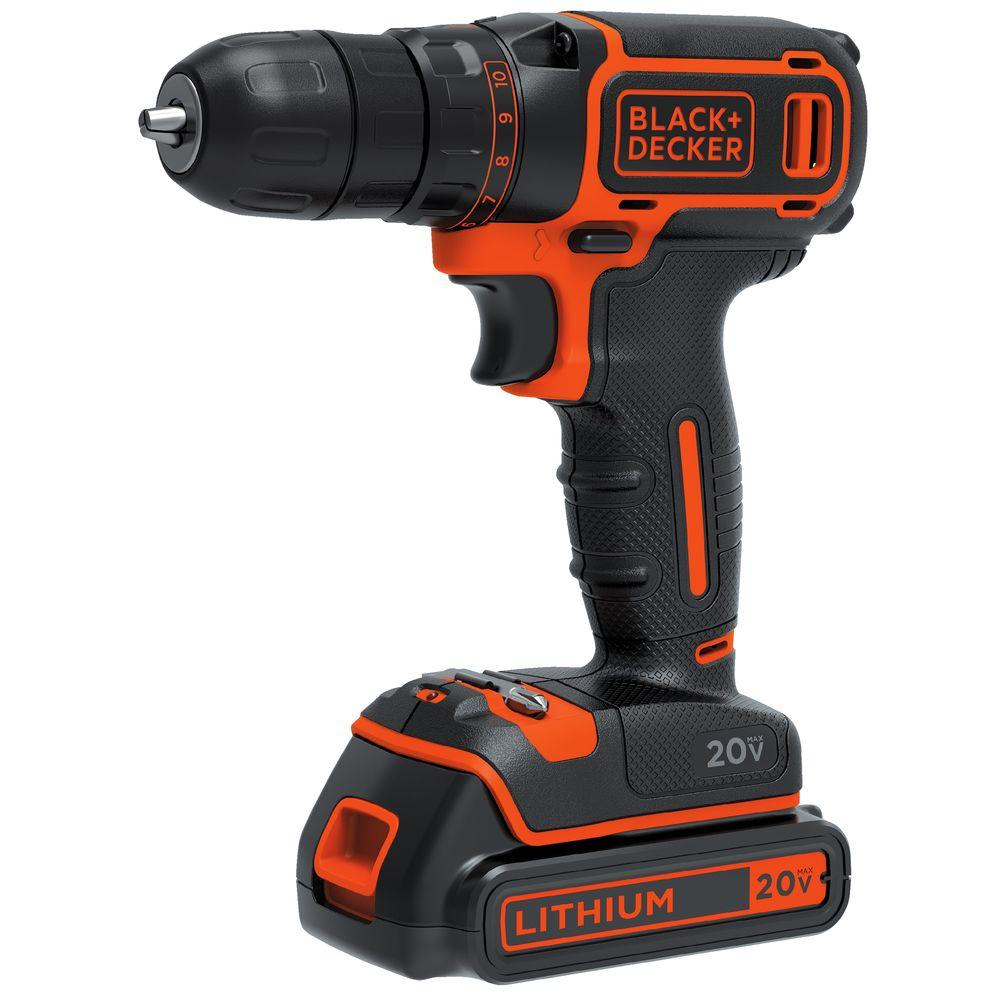 20-Volt MAX Lithium-Ion Cordless 3/8 in. Drill/Driver with Battery 1.5Ah and