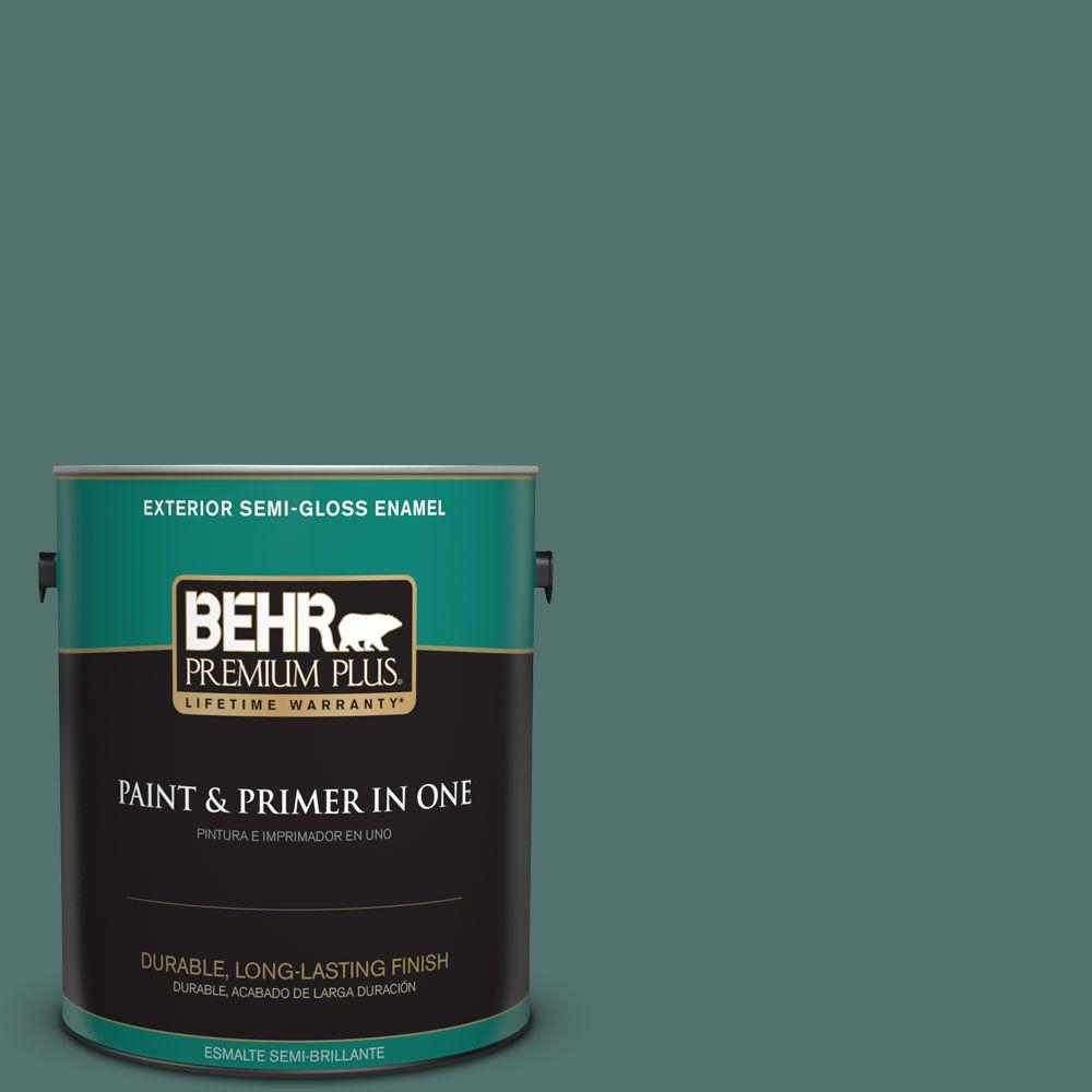1 gal. #HDC-WR16-04 Noble Fir Semi-Gloss Enamel Exterior Paint