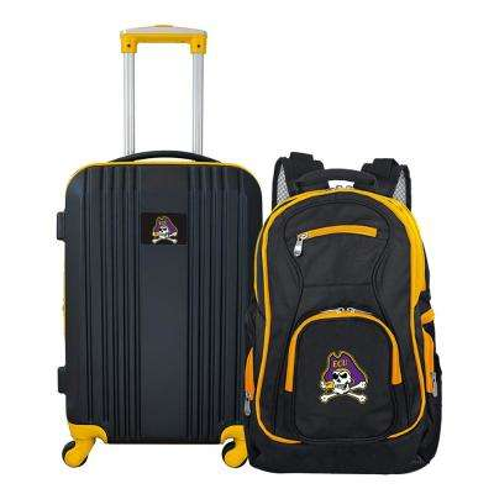 NCAA East Carolina Pirates 2-Piece Set Luggage and Backpack