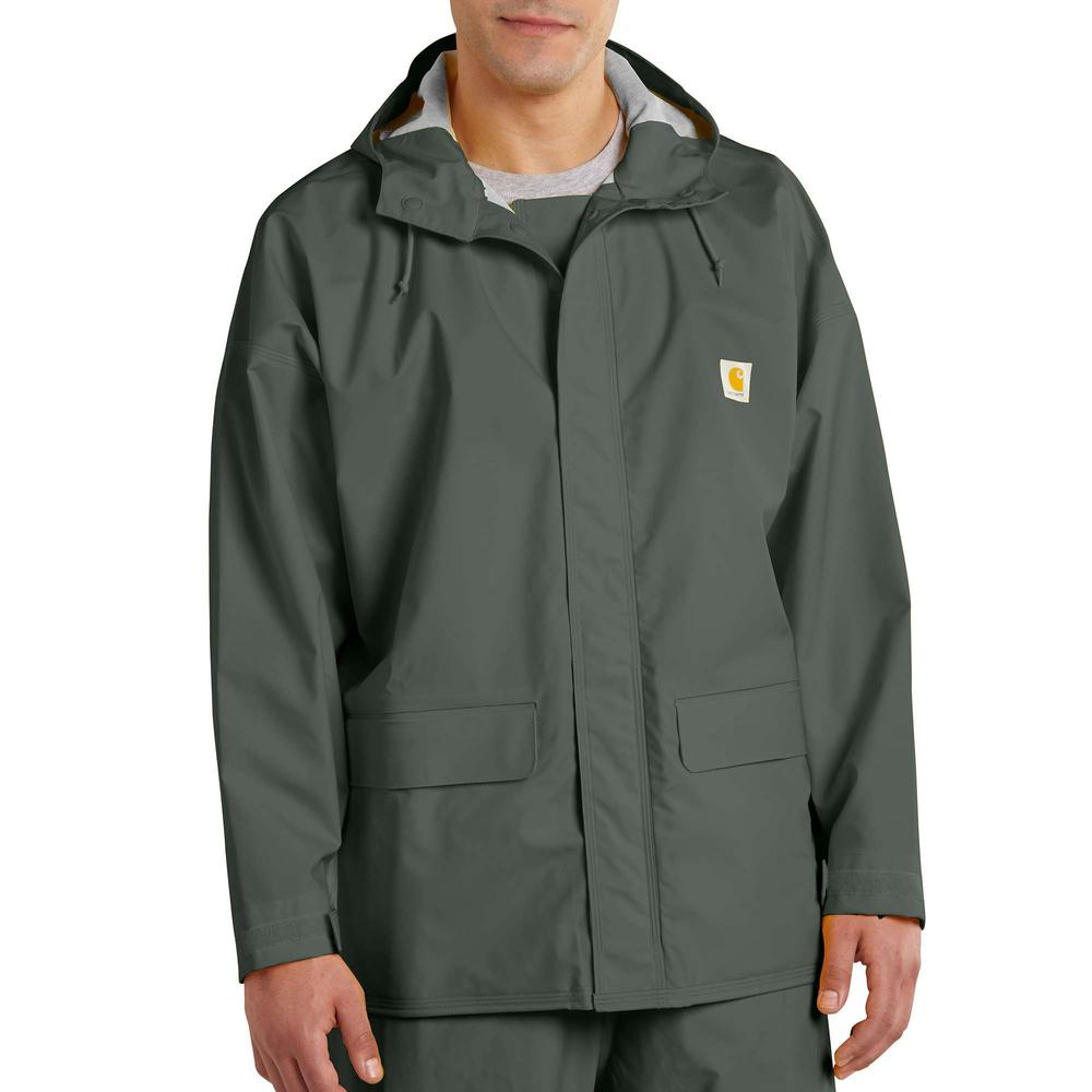 Carhartt Men's 4 XL Green PVC Blend Mayne Lightweight PVC Coat