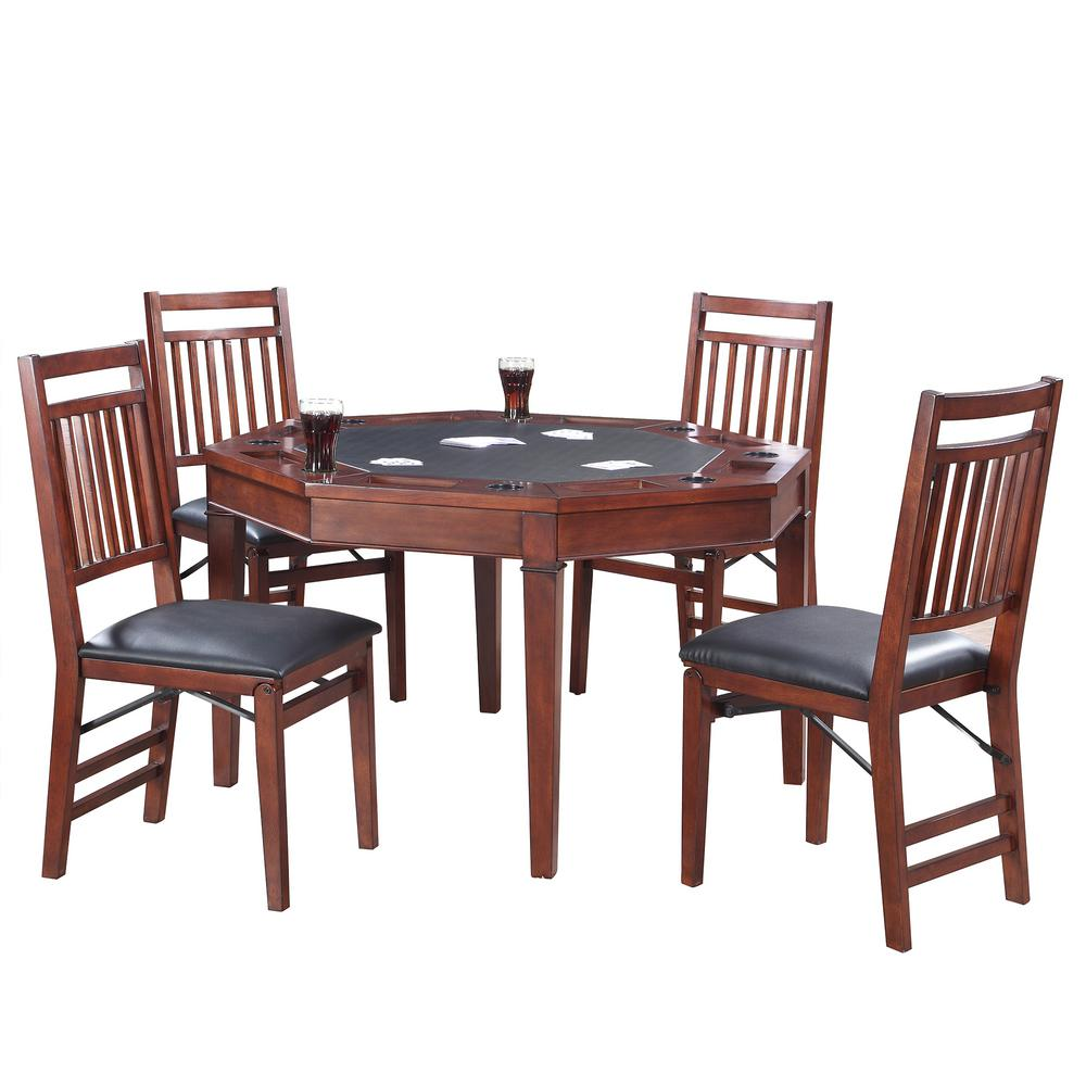 - Hathaway Broadway 48 In. Folding Poker Table And Chairs Set-BG2355