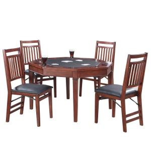 Hathaway Broadway 48 inch Folding Poker Table and Chairs Set by Hathaway