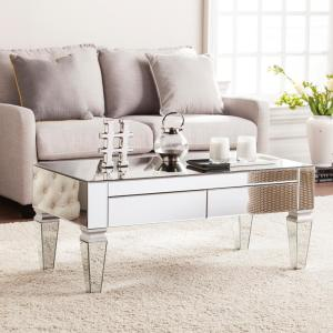 Southern Enterprises Hannity Mirrored Rectangular Cocktail Table by Southern Enterprises