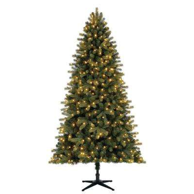 7.5 ft. Pre-Lit LED Pine Artifical Christmas Tree with 400 Color-Changing Lights