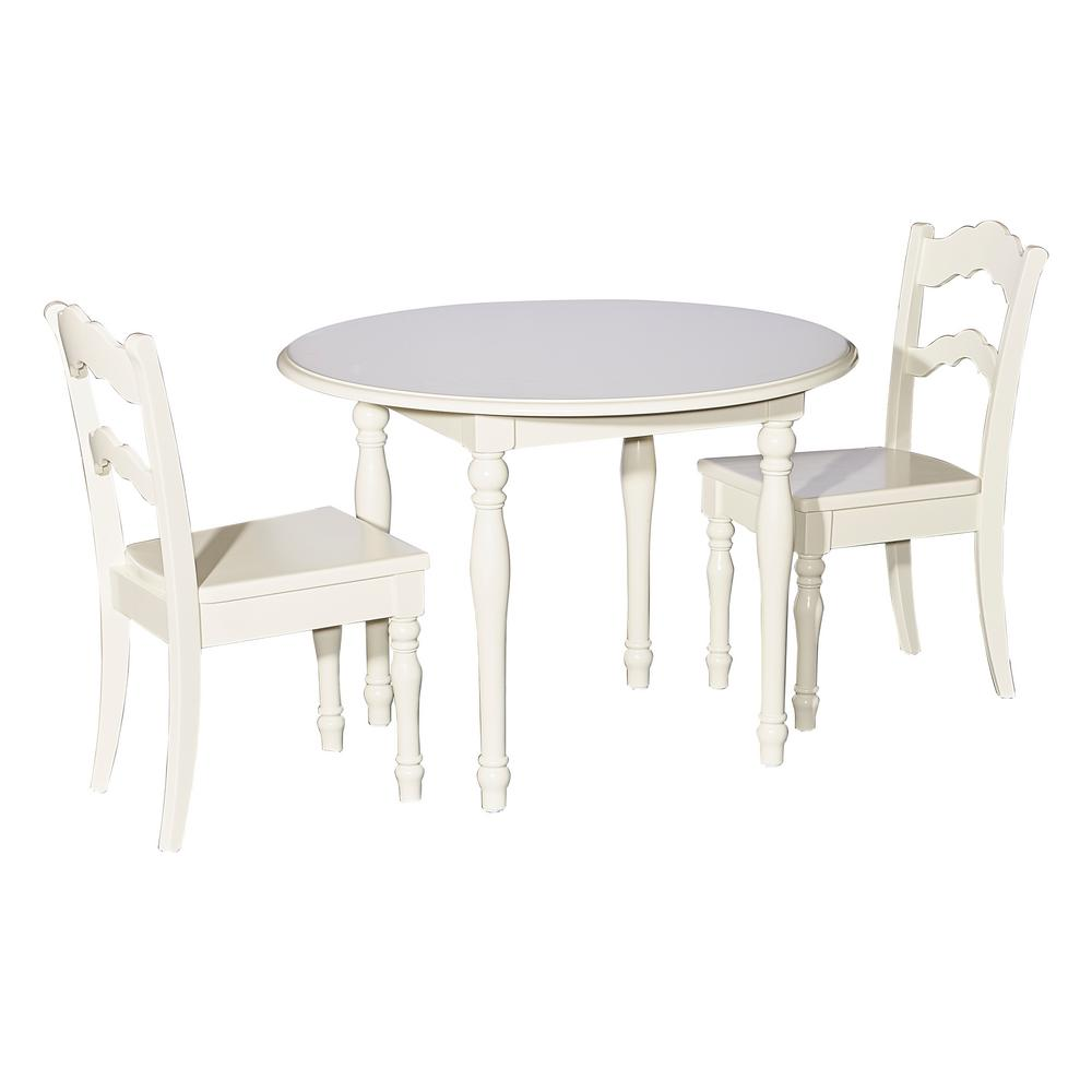 Perry Cream 3-Piece Table and Chair Set