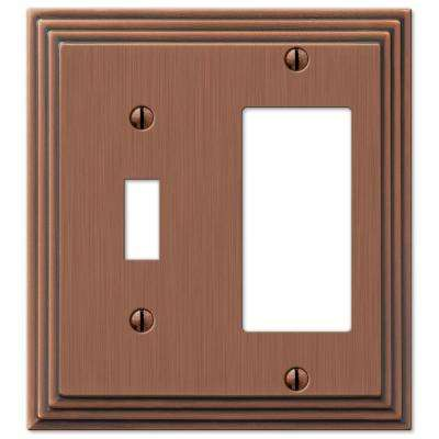 Steps 1 Toggle 1 Decora Switch Wall Plate - Antique Copper