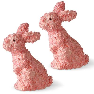 11 in. Pink Rabbits (Set of 2)