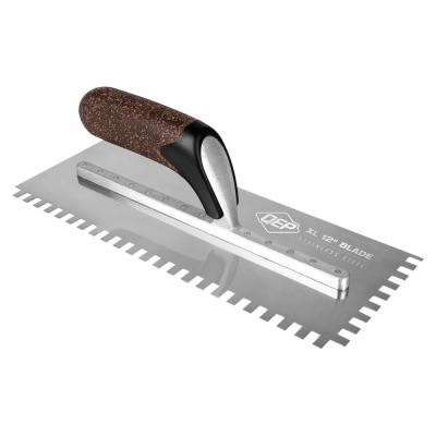 1/4 in. x 3/8 in. x 1/4 in. Cork Handle XL Stainless Steel Square-Notch Flooring Trowel