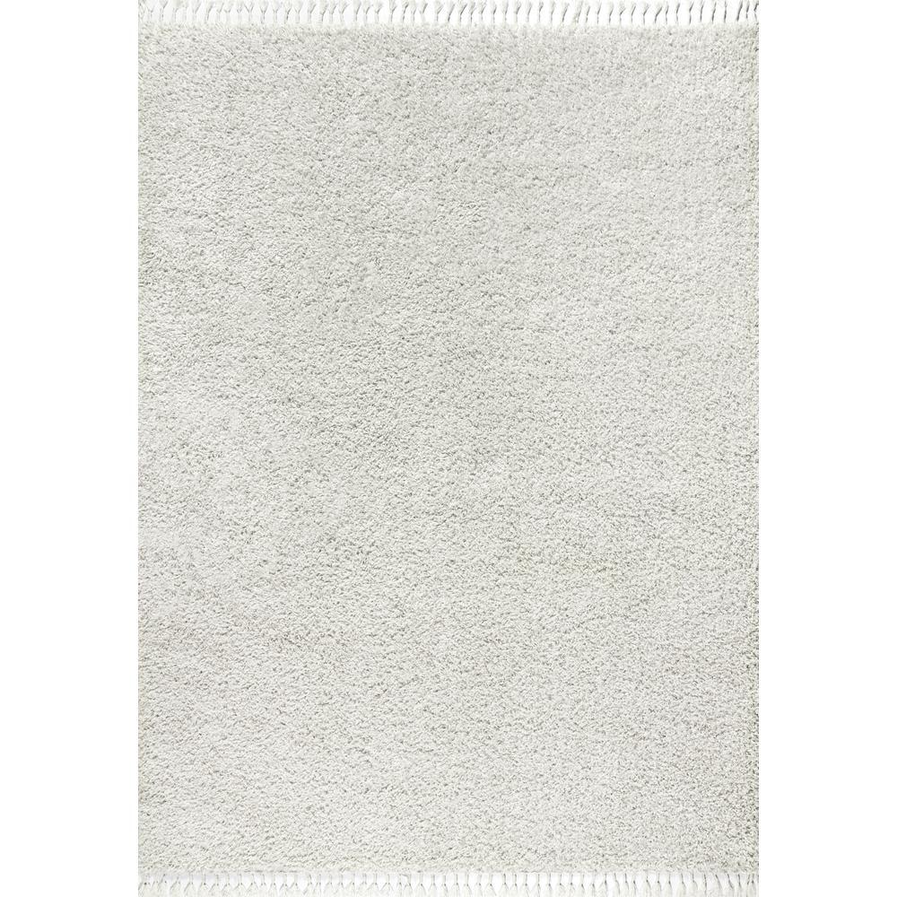 Mercer Shag Plush Tassel White 7 ft. 9 in. x 10 ft. Area Rug