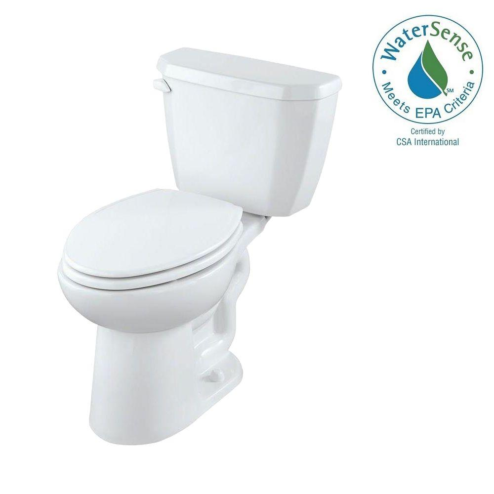 Gerber Viper 2-Piece High Efficiency Compact Elongated Toilet in White