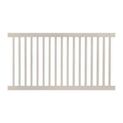Neptune 4 ft. H x 6 ft. W Tan Vinyl Pool Fence Panel