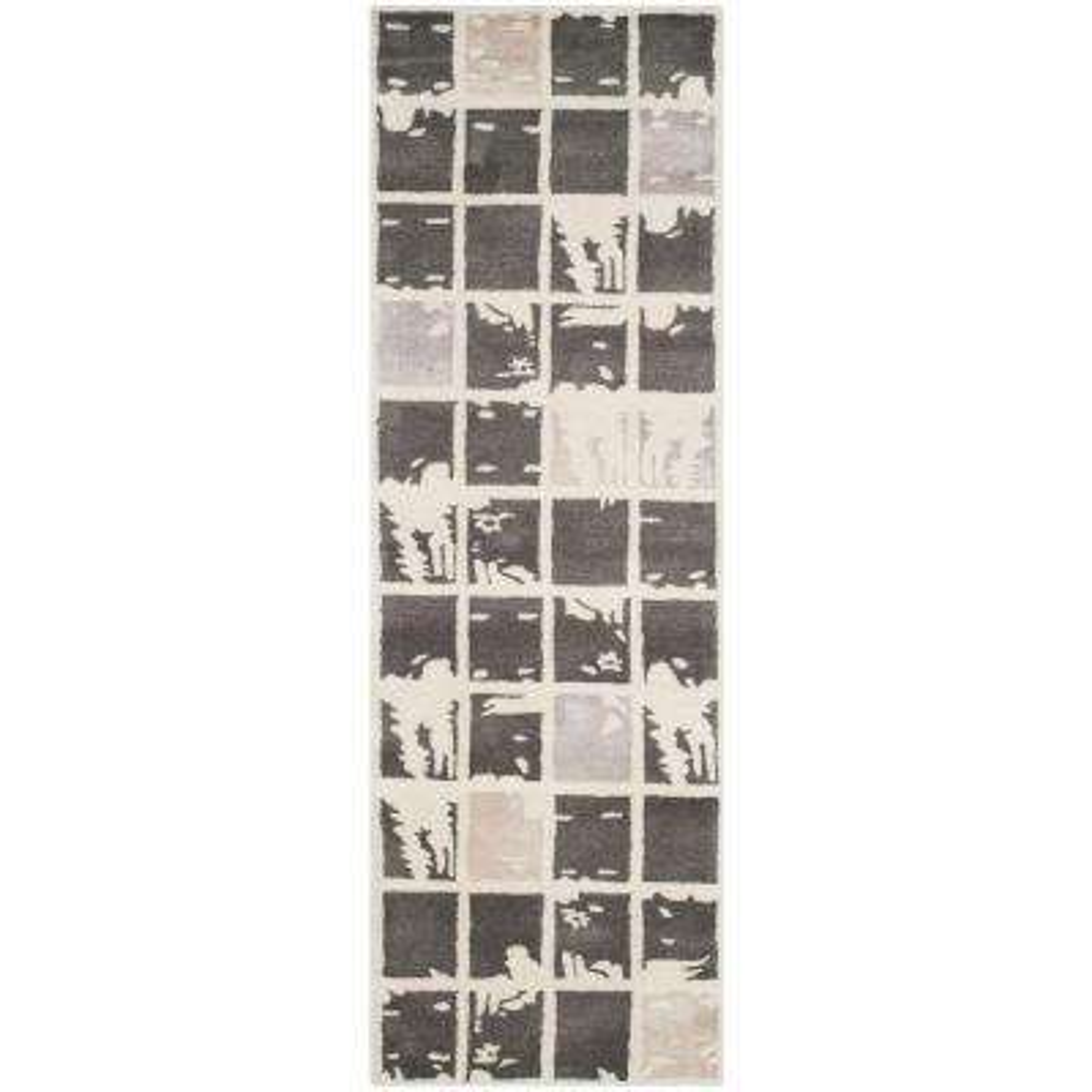 Bella Dark Grey/Ivory 2 ft. x 7 ft. Runner Rug