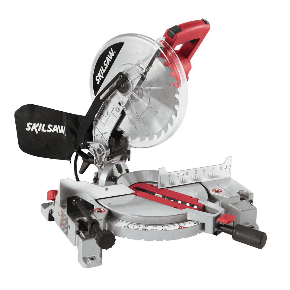 Skil 10 in. 15 Amp Corded Miter Saw with Quick Mount