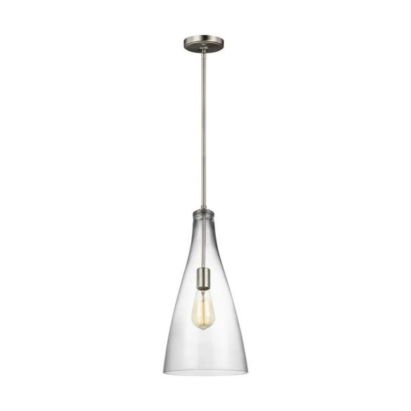 Arilda 1-Light Brushed Nickel Pendant