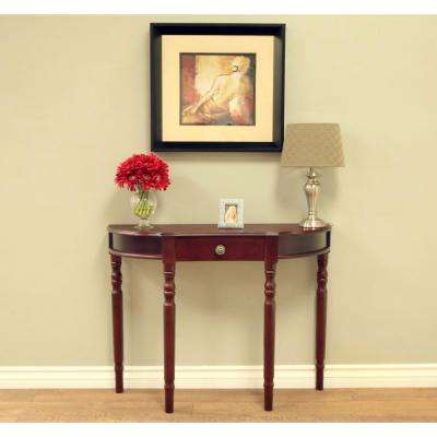 Dark Walnut Storage Console Table