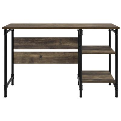 47 in. Rectangular Rustic Executive Desk with Open Storage