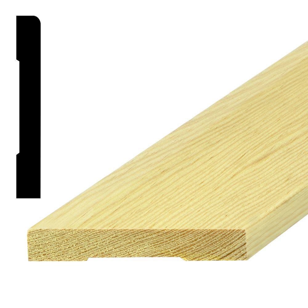 Builder's Choice LWM 430 1/2 in. x 4-1/4 in. Pine Base Moulding