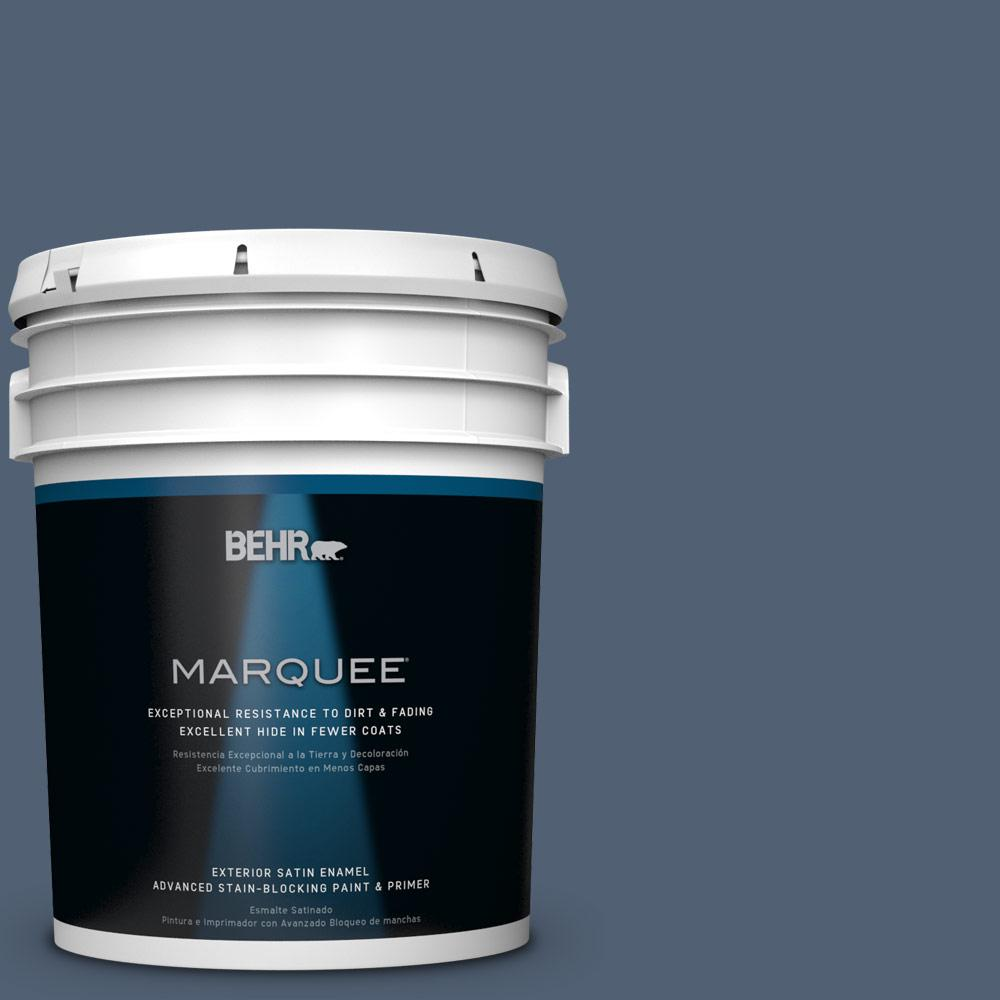 BEHR MARQUEE 5-gal. #PPU14-19 English Channel Satin Enamel Exterior Paint