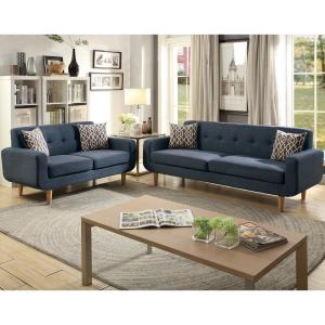 Phenomenal Venetian Worldwide Trentino 2 Piece Dark Blue Sofa Set Vene Ncnpc Chair Design For Home Ncnpcorg