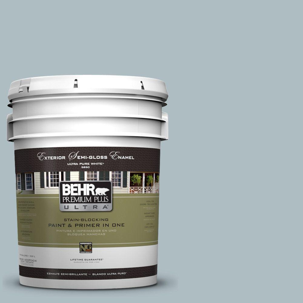 BEHR Premium Plus Ultra 5-gal. #PMD-99 Arctic Ocean Semi-Gloss Enamel Exterior Paint