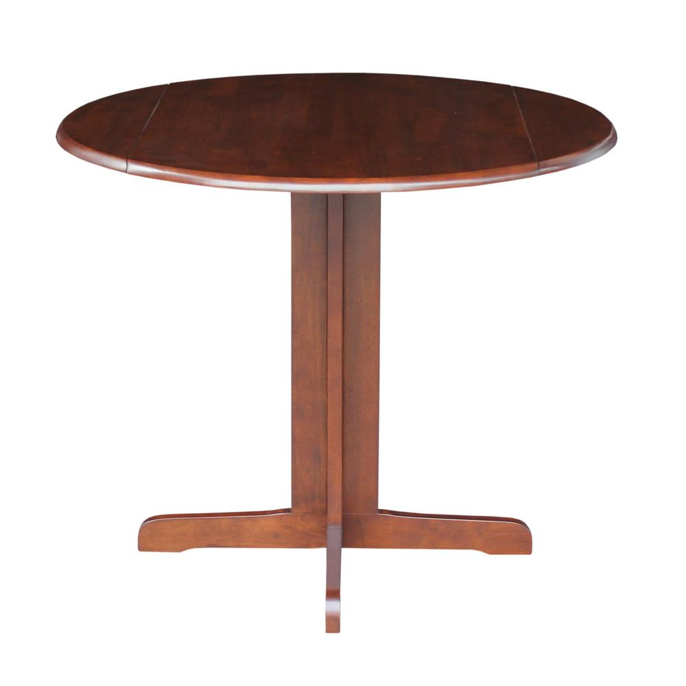 International concepts espresso skirted dining table t581 for Dining room tables home depot