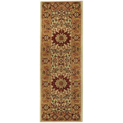 Pasha Collection Ivory 2 ft. x 7 ft. Runner Rug