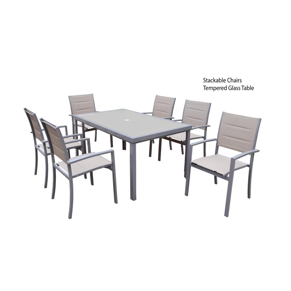 7-Piece Aluminum Outdoor Dining Set