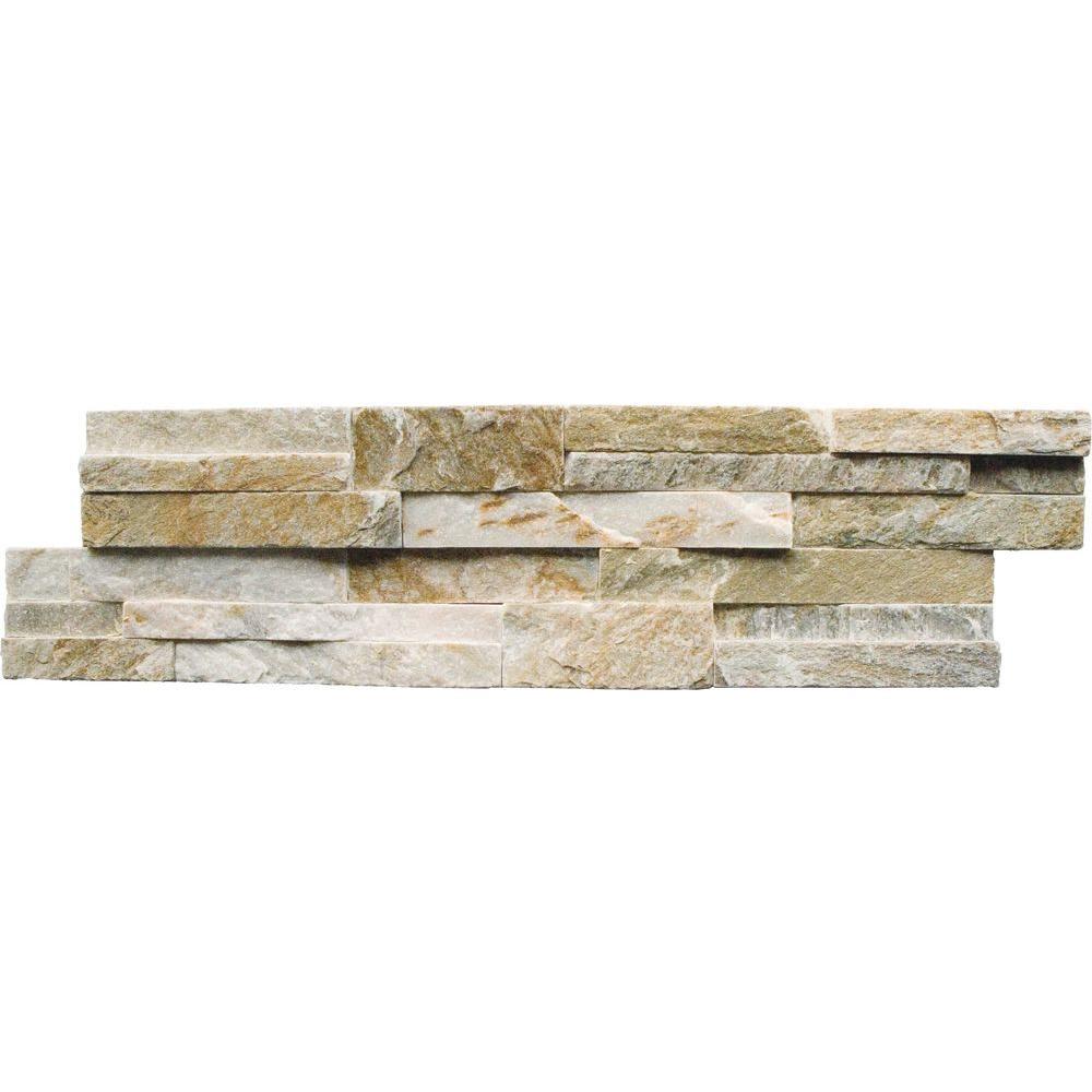 Golden Harvest Ledger Panel 6 in. x 24 in. Natural Quartzite Wall Tile (4 sq. ft. / case)