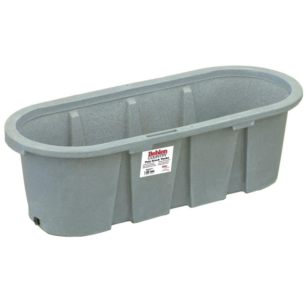 null 6 ft. x 2 ft. Round-End Polycarbonate Stack Tank