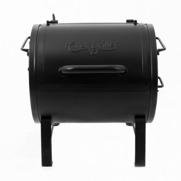 Portable Table Top Charcoal Grill Side Fire Box in Black