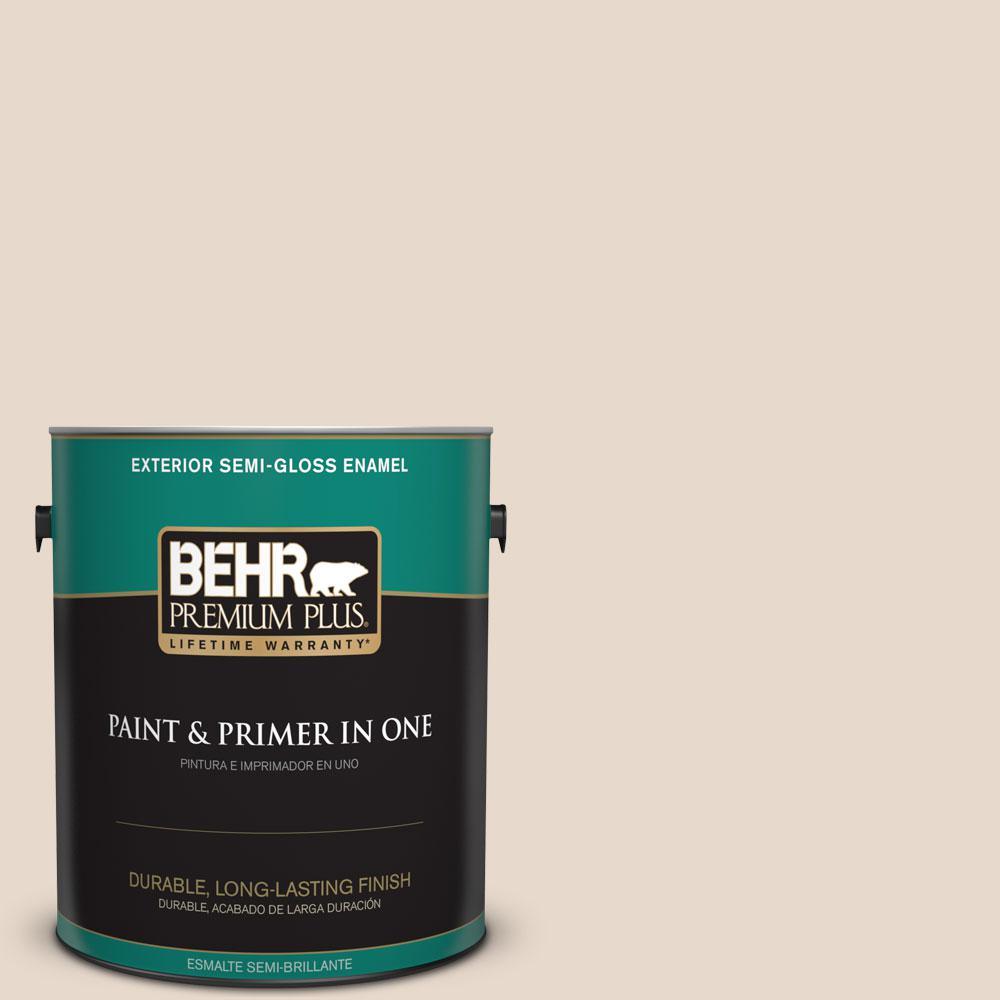 1-gal. #N240-1 Cascade Beige Semi-Gloss Enamel Exterior Paint