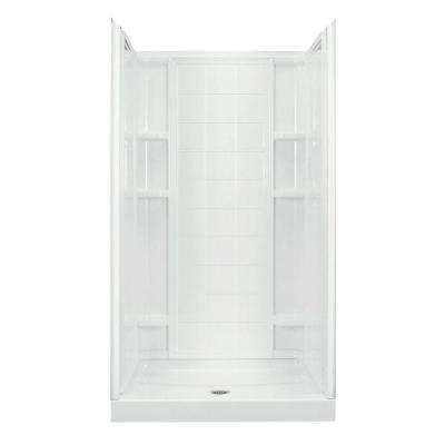 Ensemble 35-1/4 in. x 42 in. x 77 in. Shower Kit in White