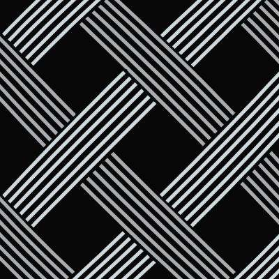 Black Lattice Outdoor Fabric by the Yard