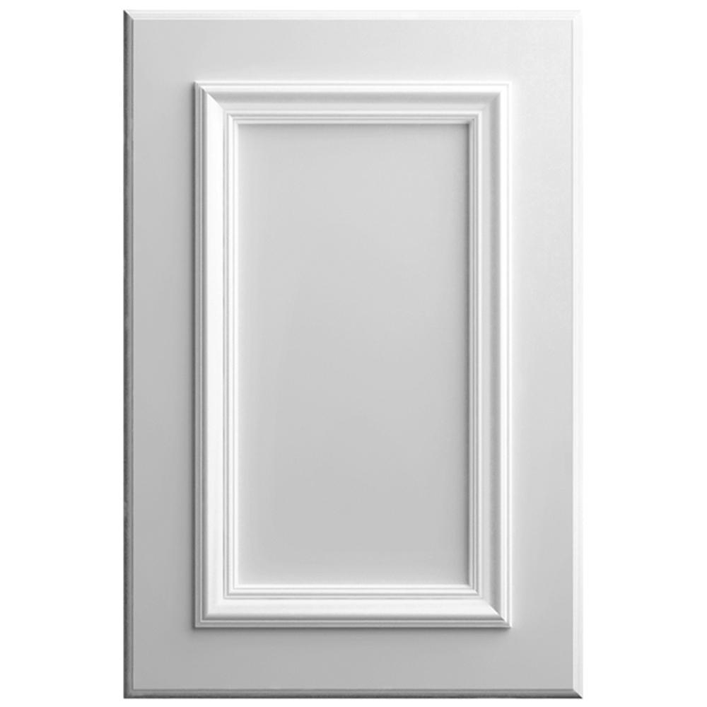 11x15 in. Belleville Cabinet Door Sample in Bright White