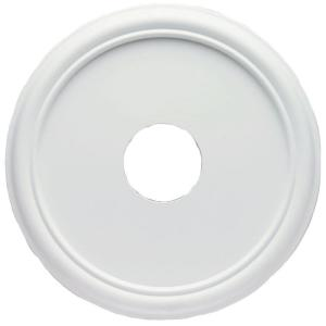 smooth white finish ceiling medallion - Ceiling Medallion