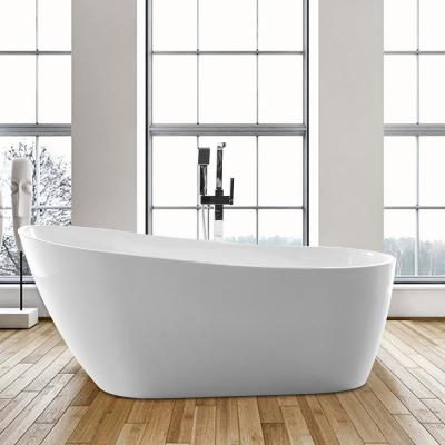 Colombes 67 in. Acrylic Flatbottom Freestanding Bathtub in White