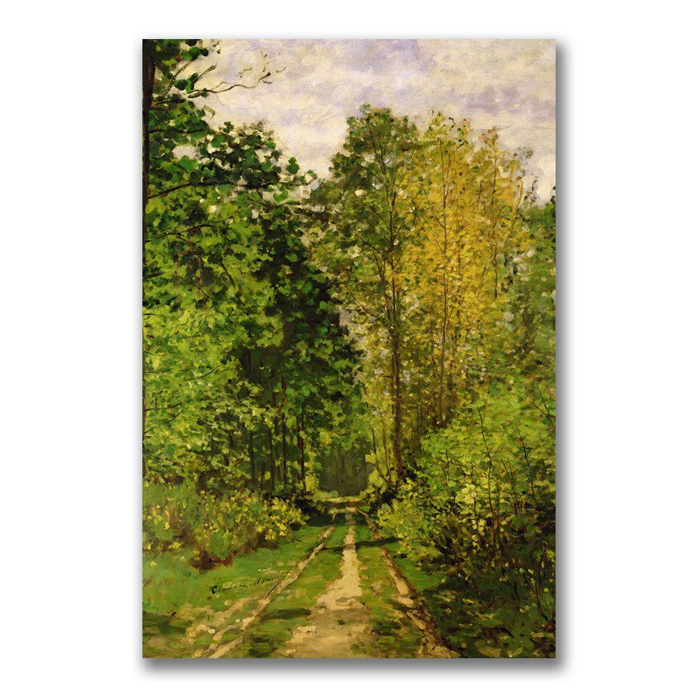 Trademark Fine Art 24 in. x 18 in. Wooded Path 1865 Canvas Wall Art