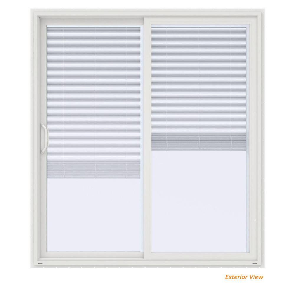 JELD WEN 72 In. X 80 In. V 4500 Contemporary White Vinyl. +3