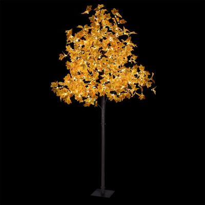 8 ft. Fall Decor Maple Tree with 264 Warm White Lights