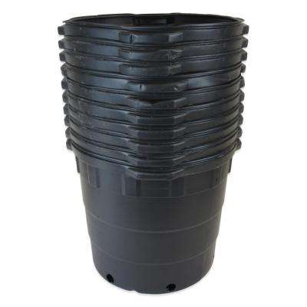 10 Gal. Round Plastic Nursery Pots (10-Pack)