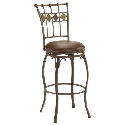 Lakeview 30 in. Brown Swivel Bar Stool