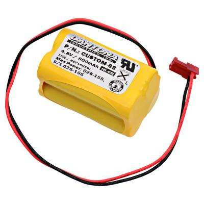 Dantona 4.8-Volt 800 mAh Ni-Cd battery for Sure-Lites - 026-155 Emergency Lighting