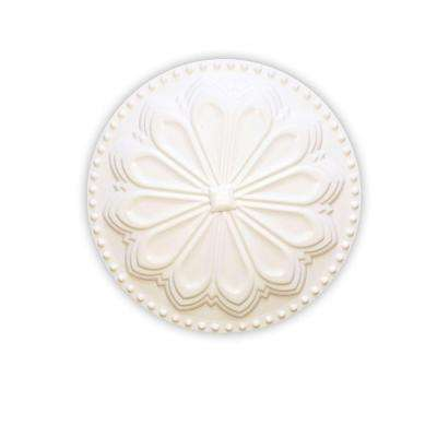 Hermosa 6 in. x 6 in. Plastic Flat Paint Grade White Cleanout Cover